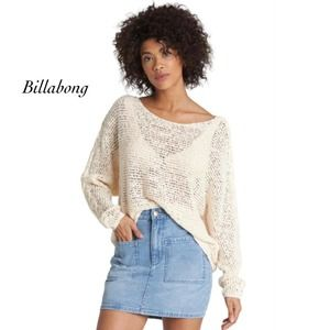 Billabong Ivory Chill Out Knit Sweater NWT Size M